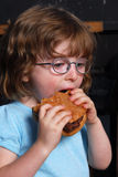 Hungry Girl Stock Photo