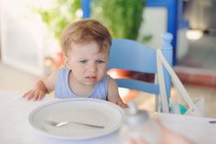 Hungry Girl Stock Image