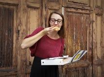 Hungry girl Stock Photos