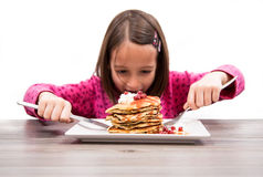 Hungry girl Stock Photography