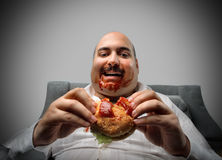 Hungry man Stock Image