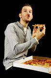 Hungry man Royalty Free Stock Photos