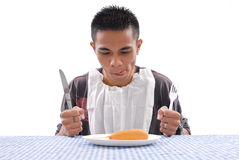 Hungry Man Royalty Free Stock Image