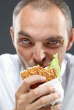 Hungry manager Stock Images