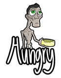 Hungry message Stock Photo