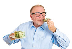 Hungry for money Royalty Free Stock Image