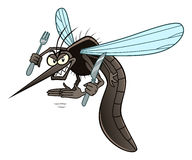 Hungry mosquito Royalty Free Stock Photography