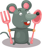 Hungry mouse Royalty Free Stock Photography