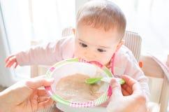 Hungry newborn weaning feed food habit Stock Image