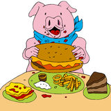 Hungry Pig Stock Images