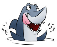 Hungry Shark. A hungry cartoon shark splashing in the water Royalty Free Stock Photos