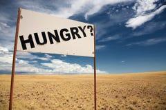 Hungry signboard Stock Photos
