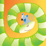 Hungry Snake and Sad Mouse vector illustration