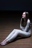 Hungry teenage girl Stock Photo
