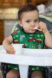 Hungry toddler Stock Images