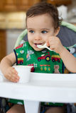 Hungry toddler Stock Photos