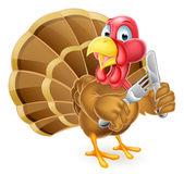 Hungry Turkey Bird stock illustration