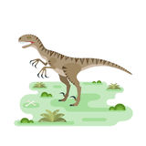 Hungry Utahraptor Royalty Free Stock Images