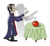 Hungry vampire vegetarian and tomato Stock Photos