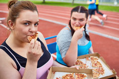 Hungry after workout Royalty Free Stock Photos