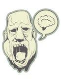 Hungry zombie head. Royalty Free Stock Photos