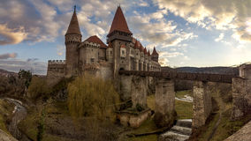 Huniad Castel Fotografia Stock Libera da Diritti