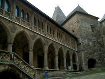 Huniarzilor medieval del castelul del castillo del huniarde del fuerte viejo imágenes de archivo libres de regalías