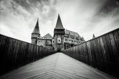 Huniazi slottsikt från bron Fotografering för Bildbyråer