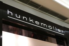 Hunkemoller lingerie shop. Berlin, Germany - February 22, 2018: Hunkemöller lingerie store. Hunkemöller is a clothing manufacturer from the Netherlands Royalty Free Stock Photos