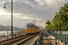 Hunker tramway route in Budapest Royalty Free Stock Photography