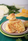 Hunks of cabbage fried in batter of eggs and wheat flour Royalty Free Stock Photo