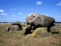 Hunnebed,the Netherlands. Old stone grave like a big dolmen in Drenthe Holland. It is called in Dutch a Hunnebed Stock Photo