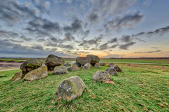 Hunnic megalithic Dolmen Royalty Free Stock Photos