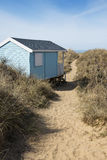 Hunstanton Beach Hut. Colorful Beach Hut at Old Hunstanton, Norfolk, UK Stock Image
