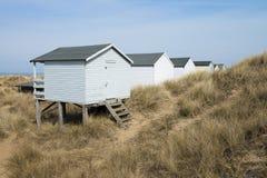 Hunstanton Beach Huts. Colorful Beach Huts at Old Hunstanton, Norfolk, UK Stock Image