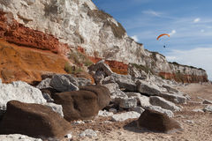 Hunstanton Cliffs Royalty Free Stock Photos