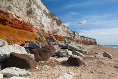 Hunstanton Cliffs in Norfolk.Great Britain. Royalty Free Stock Photo
