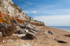 Hunstanton Cliffs in Norfolk.Great Britain. Royalty Free Stock Images