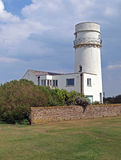 Hunstanton Lighthouse. Erected in 1665 (rebuilt in 1840) was used untill 1921. It was the worlds first Parabolic reflecter in 1779 Stock Photo
