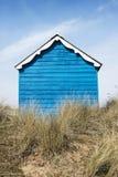 Hunstanton plaży buda Fotografia Royalty Free