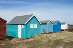 Hunstanton plaży budy Fotografia Royalty Free