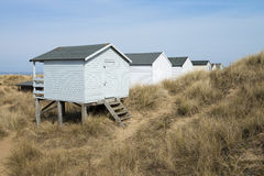 Hunstanton plaży budy Obraz Stock