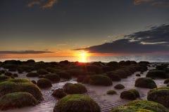 Hunstanton Sonnenuntergang Lizenzfreie Stockfotos