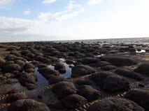 Hunstanton strand arkivfoto