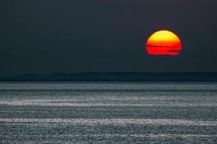 Hunstanton sunset royalty free stock photo
