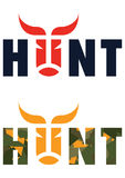 Hunt. A stylish inscription for the hunting t-shirt Stock Images