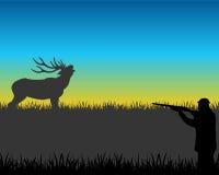 Hunt on deer Royalty Free Stock Images