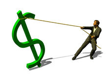 Hunt on dollar Royalty Free Stock Image