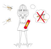 Hunt for mosquitoes Royalty Free Stock Photography