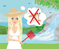 Hunt for mosquitoes Royalty Free Stock Photos